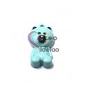 Pendente Metal Esmaltado Teddy Bear - Azul Claro (25x14mm)
