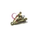 Terminal Metal AQ Cone para Pompom Brilhantes - Dourado Mate