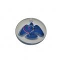 Pendente Acrílico Transparente com Pomba Azul (30mm)