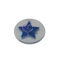 Pendente Acrílico Transparente com Estrela Azul (30mm)