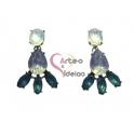 Brincos Pendentes Azuis Opal