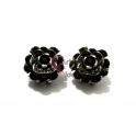 Brincos Flores Negras