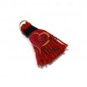Pompom Linha Grossa - Vermelho com Preto (40mm)