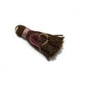 Pompom Linha Grossa - Castanho com Rosa (40mm)