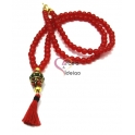 Colar Franjinha Tibete - Vermelho