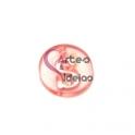 Pendente Acrílico Recorte Letra S - Rosa (21mm)