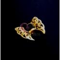 Pendente Zamak Asas de Anjo - Dourado Mate (36x44)