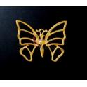 Pendente Zamak Borboleta Grande - Dourado Mate (65x80)