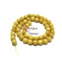 Fiada de Pedras Bolinhas Semi-Preciosas Amarelo Claro (8 mm) - [48 unds]