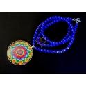 Colar Mandala - Azulão