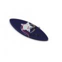 Pendente Acrílico Prancha Azul Escuro com Estrela Branca (40x15mm)