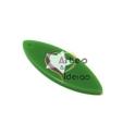 Pendente Acrílico Prancha Verde com Estrela Branca (40x15mm)