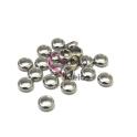 Pack Contas Aço Inox Donnuts - Prateada (5mm) - [20unds]