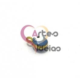 Pendente Metal Olho Turco Azul Claro - Dourado (7mm)