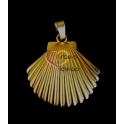 Pendente Zamak Concha - Dourado Mate (60mm)