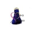 Pompom de Seda com Argola - Azul Escuro (20 mm)