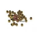Pack Contas Aço Inox Bolinha de 4 mm - Douradas (2mm) - [38unds]