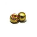 Conta Zamak Mate Bolinha de 10 mm - Dourada (4.5mm)