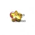 Conta Zamak Mate Estrela (12mm) - Dourada