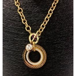 Colar Aço Inox Medalhão Stylish - Dourado