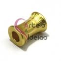 Conta Zamak Mate Coluna - Dourado (4mm)