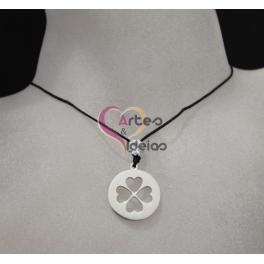 Fio de Seda One Shine Collection Aço - Trevo [Prateado]