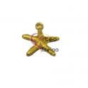 Pendente Zamak Mini Estrela do Mar - Dourado Mate (20mm)