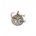 Pendente Aço Inox Medalhinha Borboleta Recortada - Prateado (15mm)