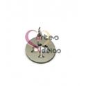Pendente Aço Inox Medalhinha Árvore Recortada - Prateado (15mm)