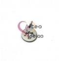 Pendente Aço Inox Mini Medalhinha Árvore Recortada - Prateado (10mm)
