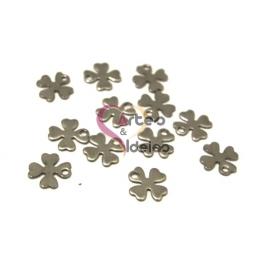 Conjunto 12 Pendentes Aço Inox Trevos Fechados - Prateado (15mm)