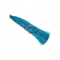 Pompom de Linha Seda Fino e Comprido - Azulão (90mm)