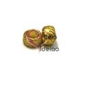 Conta Zamak Mate Donuts Relevos - Dourada (6mm)