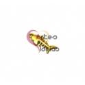 Pendente Zamak Espinha de Peixe - Dourado Mate (17x7mm)