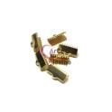 Terminais Aço Inox de Apertar - Dourado (10mm) - [6unds]