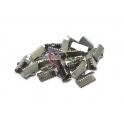 Terminais Aço Inox de Apertar - Prateado (10mm) - [20unds]
