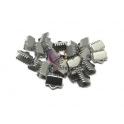 Terminais Aço Inox de Apertar - Prateado (10mm) - [15unds]