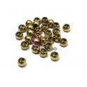 Pack Contas Aço Inox Bolinha de 6 mm - Douradas (3mm) - [28unds]