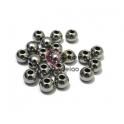Pack Contas Aço Inox Bolinha de 8 mm - Prateada (2mm) - [18unds]