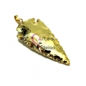 Pendente Ponta de Lança Dourada (60x30mm)