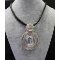 Colar Fashion Mood Square Crystal - Prateado com Dourado