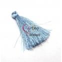 Pompom de Linha Seda Médio - Azul Clarinho (50mm)