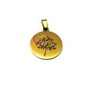 Pendente Aço Inox Árvore da Vida [mod.15A] - Dourado (25mm)