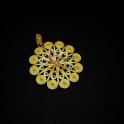 Pendente Zamak Flor - Dourado Mate (60mm)