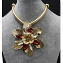Colar Fashion Mood Shine Flower - Castanhos