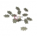 Conjunto 12 Pendentes Aço Inox Menina - Prateados (15x10mm)