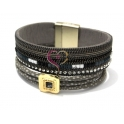 Pulseira Fashion Mood Square - Cinza