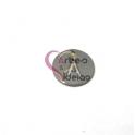 Pendente Aço Inox Mini Medalha Redonda Letra A - Prateado (15mm)