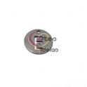Pendente Aço Inox Mini Medalha Redonda Letra E - Prateado (15mm)