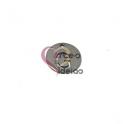 Pendente Aço Inox Mini Medalha Redonda Letra G - Prateado (15mm)